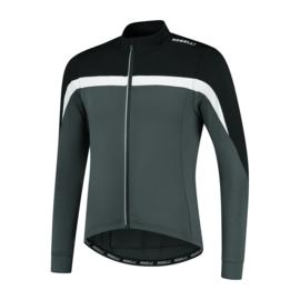 Rogelli Course heren fietsshirt lange mouwen - grijs/zwart/wit