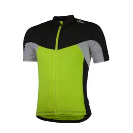 Rogelli Recco 2.0 kinder fietsshirt korte mouwen - fluor/zwart/wit