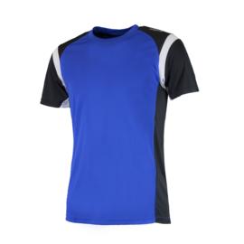 Rogelli Dutton hardloopshirt heren korte mouw - blauw/zwart/wit