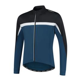 Rogelli Course heren fietsshirt lange mouwen - blauw/zwart/wit