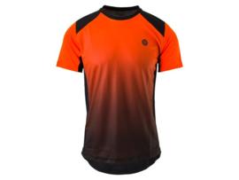 AGU MTB fietsshirt korten mouwen - zwart/oranje