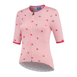 Rogelli Fruity dames fietsshirt korte mouwen - roze (eco)
