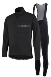 Rogelli Barrier/Nero heren winter fietsjack - zwart