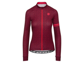 AGU Velo Love dames fietsshirt lange mouwen - rood