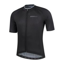 Rogelli Weave fietsshirt korte mouwen - zwart/grijs