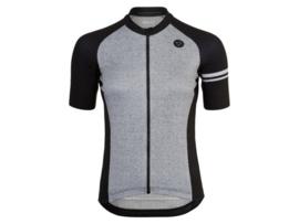AGU Melange dames fietsshirt korte mouwen - zwart/grijs