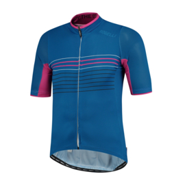 Rogelli Kalon fietsshirt korte mouwen - blauw/magenta