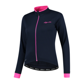 Rogelli Essential dames winter fietsjack - blauw/roze