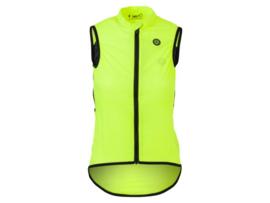 AGU Essential Wind Body dames fietsvestje - fluor/zwart