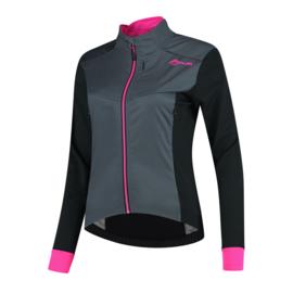 Rogelli Contenta dames winter fietsjack - grijs/zwart/roze