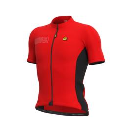 Alé Color Block fietsshirt korte mouwen - rood/zwart