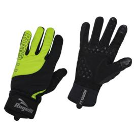 Rogelli Storm winter fietshandschoenen - zwart/fluor
