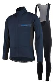 Rogelli Barrier/Nero heren winter fietsjack - blauw/zwart
