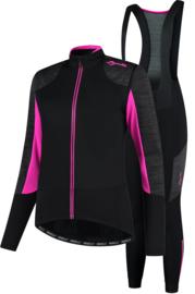 Rogelli Glory dames winter fietskledingset - zwart/grijs/roze