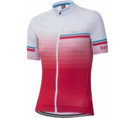 Löffler FZ Hotbond dames fietsshirt korte mouwen - roze/wit