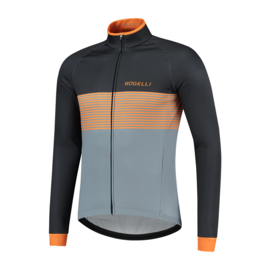 Rogelli Boost heren winter fietsjack - zwart/oranje/grijs