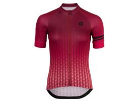 AGU Art Deco dames fietsshirt korte mouwen - roze