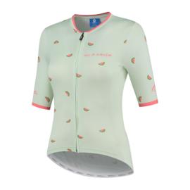 Rogelli Fruity dames fietsshirt korte mouwen - mint/coral (eco)