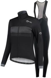 Rogelli Purpose/Nero dames winter fietskledingset - zwart/wit