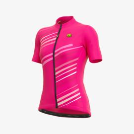 Alé Solid Flash dames fietsshirt korte mouwen - roze