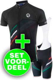 Rogelli Team 2.0 zomer fietskledingset - zwart