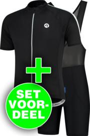 Rogelli Explore/Basic zomer fietskledingset - zwart/wit