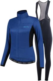Rogelli Barrier/Nero dames winter fietskledingset - blauw/zwart