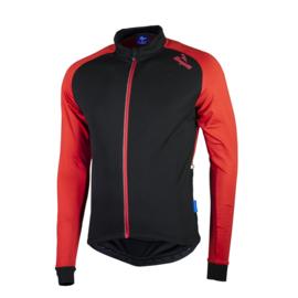 Rogelli Caluso 2.0 fietsshirt lange mouwen - zwart/rood