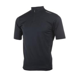 Rogelli Base kinder fietsshirt korte mouwen - zwart