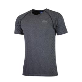 Rogelli naadloos hardloopshirt heren korte mouw - grijs