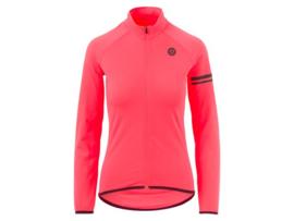 AGU Essential dames fietsshirt lange mouwen - coral