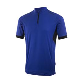 Rogelli Perugia kinder fietsshirt korte mouwen - blauw/zwart