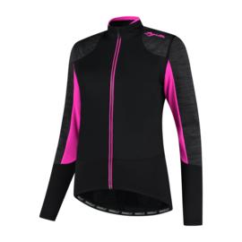 Rogelli Glory dames winter fietsjack - zwart/grijs/roze