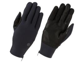AGU Neoprene Light Zip winter fietshandschoenen - zwart
