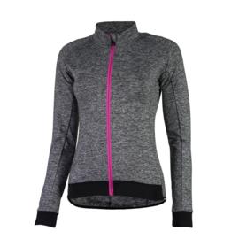 Rogelli Benice 2.0 dames fietsshirt lange mouwen - grijs/zwart/roze