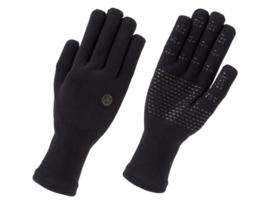 AGU Merino Knit waterdichte fietshandschoenen - zwart