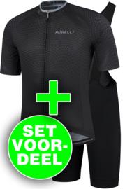 Rogelli Weave/Ultracing zomer fietskledingset - zwart/grijs