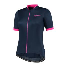 Rogelli Essential dames fietsshirt korte mouwen - blauw/roze