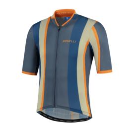 Rogelli Vintage fietsshirt korte mouwen - grijs/blauw/oranje (eco)