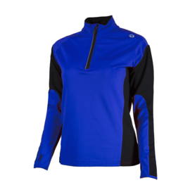Rogelli Elka hardloopshirt dames lange mouwen - blauw/zwart