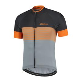 Rogelli Boost fietsshirt korte mouwen - grijs/oranje