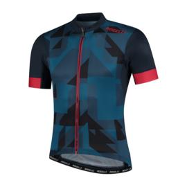 Rogelli Brisk fietsshirt korte mouwen - blauw/rood