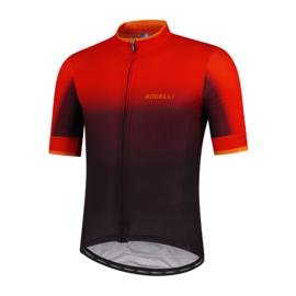 Rogelli Horizon fietsshirt korte mouwen - rood/zwart