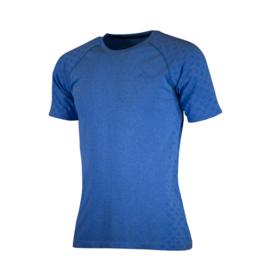 Rogelli naadloos hardloopshirt heren korte mouw - blauw