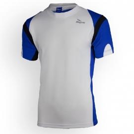 Rogelli Dutton hardloopshirt heren korte mouw - wit/blauw/zwart