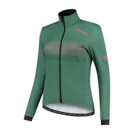 Rogelli Purpose dames winter fietsjack - groen/coral