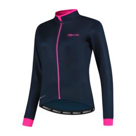 Rogelli Essential dames fietsshirt lange mouwen - blauw/roze