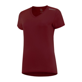 Rogelli Promo dames hardloopshirt korte mouw - bordeaux