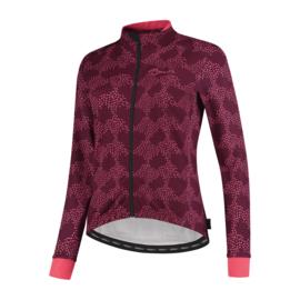 Rogelli Blossom dames winter fietsjack - cerise/coral
