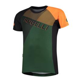 Rogelli Adventure 2.0 MTB fietsshirt korte mouwen - groen/zwart/oranje